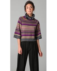 Cut25 by Yigal Azrouël Intarsia Turtleneck Sweater - Multicolor