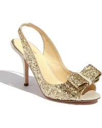 Kate Spade 'Charm' Slingback Pump gold - Lyst