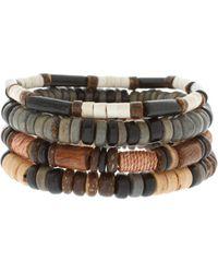 River Island - Beaded Bracelet Pack - Lyst