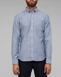 Gant Rugger Selvage Oxford in Blue - Lyst