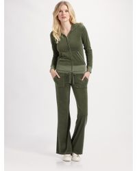 Juicy Couture Flared Terry Pants - Lyst