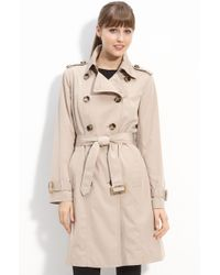 London Fog Double Breasted Trench - Lyst