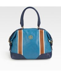 Tory Burch Ally Leather Satchel - Blue