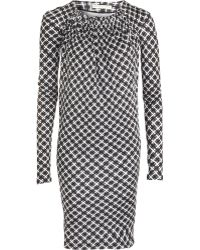 Balenciaga Geometric Print Dress - Lyst