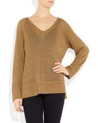 Kain Frances Open-knit Linen-blend Sweater - Lyst