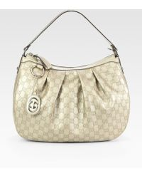 Gucci Sukey Gg Medium Metallic Hobo Bag - Lyst