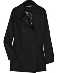 Reed Krakoff | Leather-trimmed Cotton Peacoat | Lyst