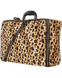 TOPSHOP - Leopard Print Velvet Suitcase - Lyst