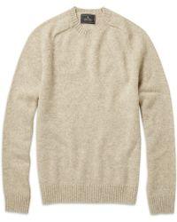 Brooks Brothers - Shetland Wool Crew Neck Jumper - Lyst