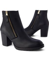 Kurt Geiger Sweep Leather Ankle Boot Black