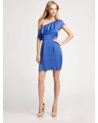 Rebecca Taylor Eyelash One-shoulder Dress - Lyst