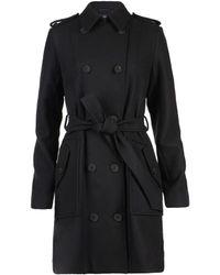 AllSaints Finsbury Wool Coat - Lyst