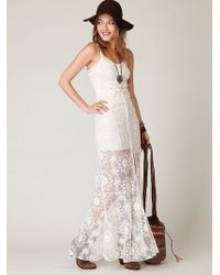Free People Queen Of Flowers Maxi Slip - Lyst