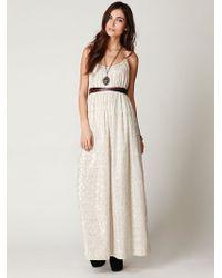 Free People Fp New Romantics Foiled Maxi Dress - Lyst