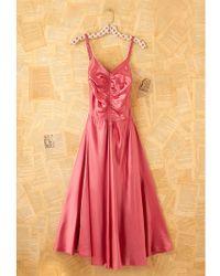Free People Vintage Pink Satin Dress - Lyst