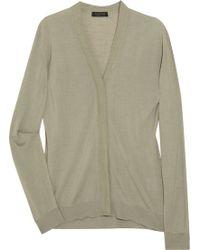 Calvin Klein Savin Silk and Cashmere-blend Cardigan - Lyst