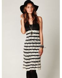 Free People Crochet and Lace Sweater Dress - Lyst