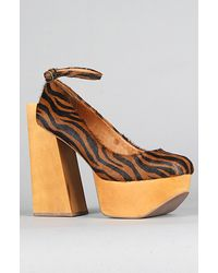 Jeffrey Campbell The Safety Shoe in Brown Zebra Fur - Lyst