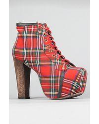 Jeffrey Campbell The Lita Shoe in Red Tartan - Lyst