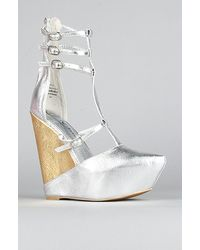 Jeffrey Campbell The Zane Shoe in Silver and Gold - Lyst