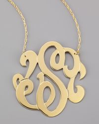 Jennifer Zeuner Swirly Initial Necklace gold - Lyst