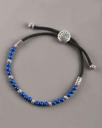 John Hardy Lapis Bead Bracelet - Lyst