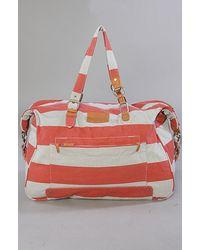 Nixon The Pack It Up Weekender in Red Stripe - Lyst