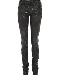 Notify Bamboo Tattoo Printed Skinny Jeans - Lyst
