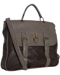 Steve Madden - Dark Brown Faux Leather Bberkely Top Handle Messenger Bag - Lyst