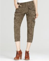 7 For All Mankind Jacquard Camo Aviator Pants - Lyst
