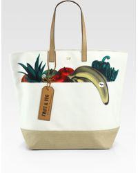 Anya Hindmarch Fruit & Veg Canvas Tote Bag - Lyst