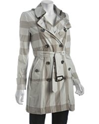 Burberry Brit Trench Check Balmoral Belted Trench - Lyst