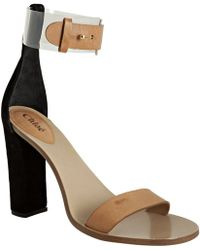 Chloé Clear Ankle Strap Sandals - Lyst