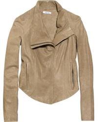 Helmut Lang Panelled Leather Jacket - Brown