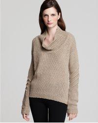 Helmut Lang Alternating Tucks Oversize Neck Sweater - Lyst
