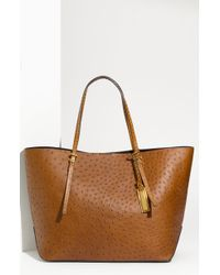 Michael Kors Gia Ostrich Embossed Tote - Lyst
