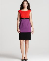 Milly Sleeveless Natalie Combo Dress - Lyst