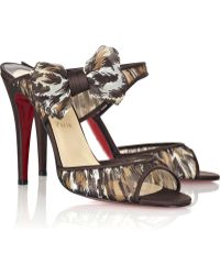 Christian Louboutin Miss Chief 100 Chiffon Sandals - Lyst