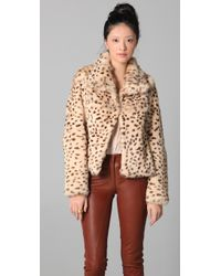 Rory Beca Moss Fur Jacket - Multicolor