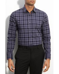 Calibrate Tonal Plaid Trim Fit Sport Shirt - Lyst