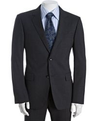 Gucci Charcoal Stretch Wool 2-button Suit with Flat Front Pants - Lyst