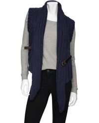 Improvd - Belted Chunky Sweater Vest - Lyst