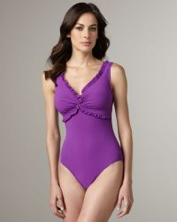 Karla Colletto Ruffled One-Piece Swimsuit - Lyst