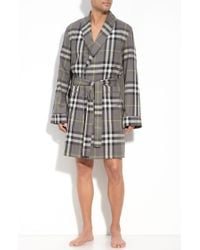 Burberry Check Dressing Gown - Lyst