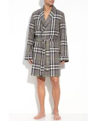 Burberry Check Dressing Gown gray - Lyst