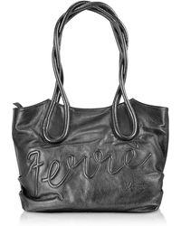 Ferrè Milano - Ametista - Signature Leather Tote - Lyst