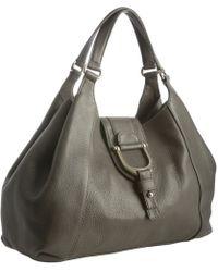Gucci Grey Leather Greenwich Medium Shoulder Bag - Lyst