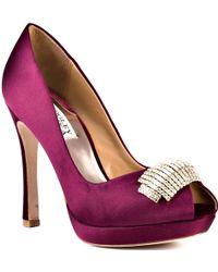 Badgley Mischka Julia purple - Lyst