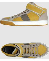 Lanvin High Top Sneakers beige - Lyst
