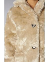MINKPINK Double Agent Fur Coat - Natural